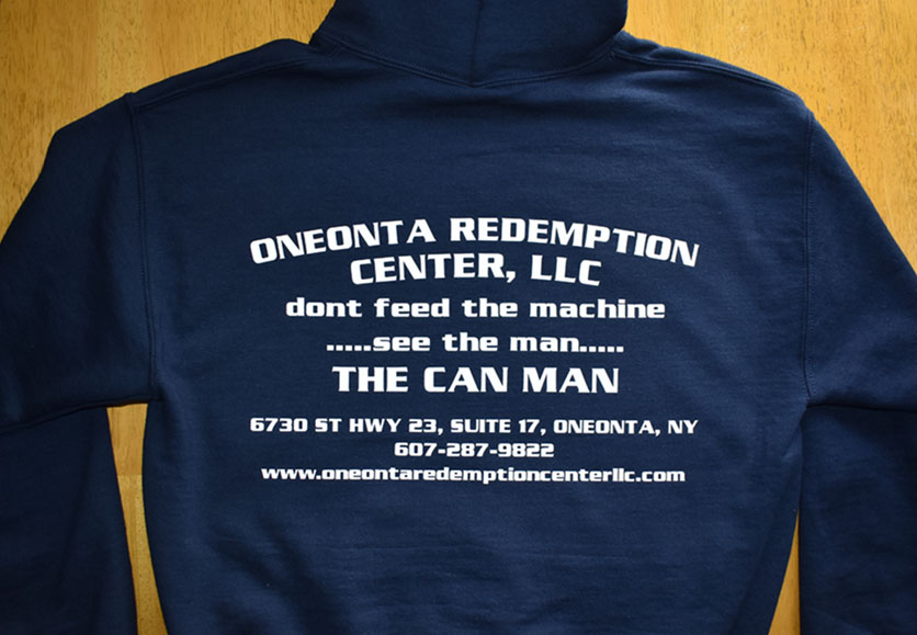 oneonta redemption center sweatshirt back