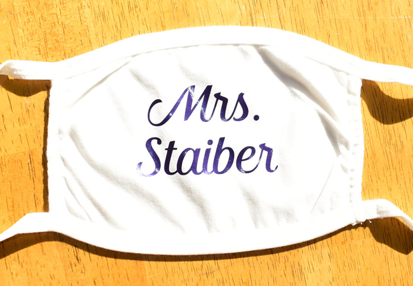 mrs staiber teacher mask