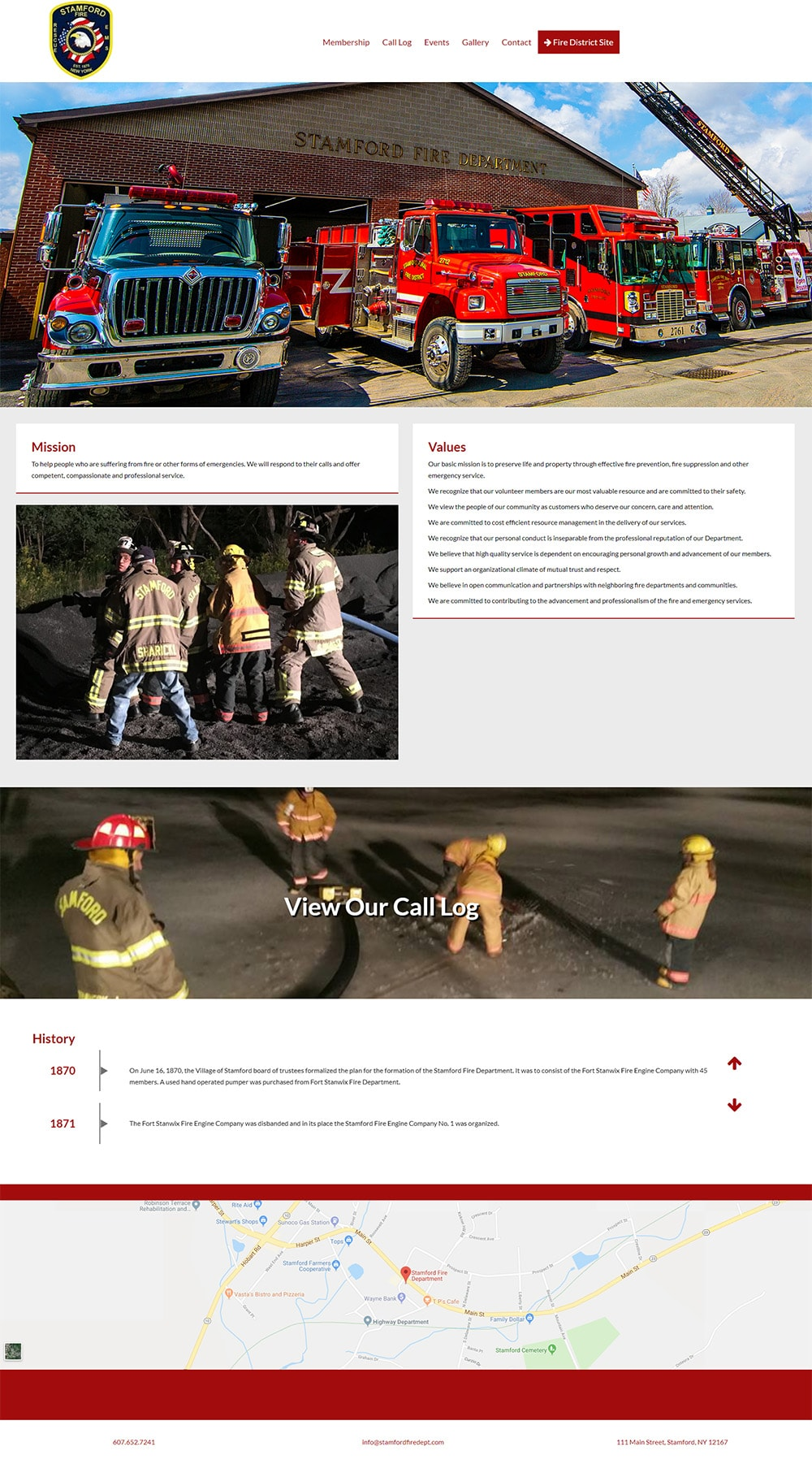 Stamford Fire Department Website
