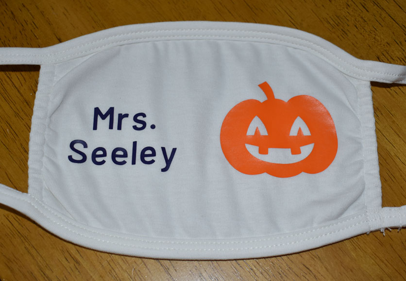 Mrs. Seeley - Pumpkin Mask