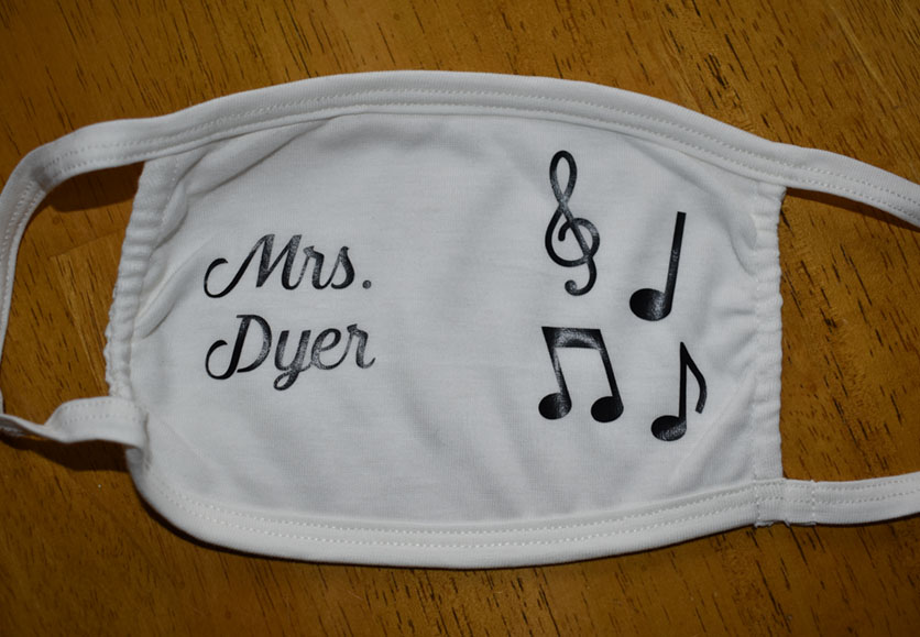 dyer music teacher mask