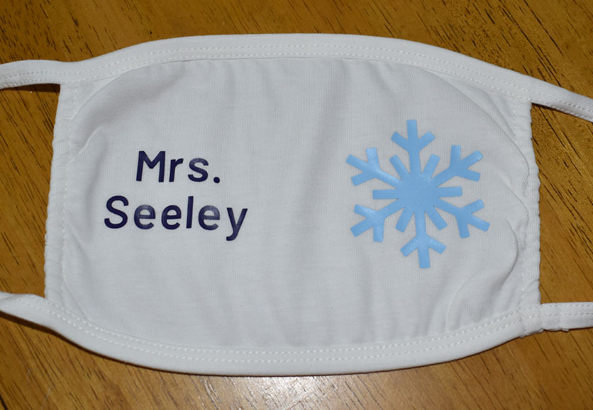 Mrs. Seeley - Snowflake Mask